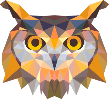 TenStickers. Geometric Owl Decorative Decal. This creative owl design is part of our owl wall stickers collection to give your home a touch of style and at the same time originality.