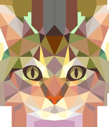Naklejka Na ścianę Geometryczny Kot Tenstickers