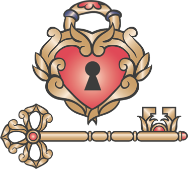 TenStickers. Lock of Love Wall Sticker. A romantic wall sticker illustrating a vintage lock of love design! Brilliant heart decal for those looking for an original wall decoration.