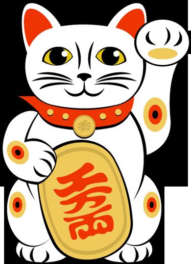 Maneki neko cat wall sticker wall colour