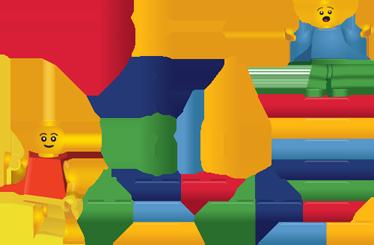 TenVinilo. Vinilo infantil nombre personalizable lego. Personaliza la habitación de tus hijos con este colorido diseño del juego de piezas por excelencia. Un adhesivo divertido y único.