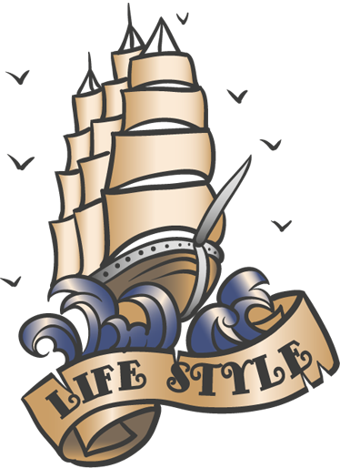 TenStickers. Life style Tattoo Aufkleber. Wandtattoo Meer - Mögen Sie Schiffe? Mit diesem maritimen Wandtattoo können Sie Ihrem Zuhause einen interessanten Look verleihen.