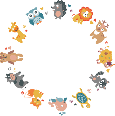 TenStickers. Kids Animal Circle Wall Sticker. Kids Animal Wall Stickers - Cute and colourful illustrations of various animals in a circle. Adorable animal decals for decorating your child´s bedroom.