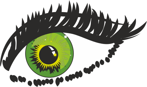 TenStickers. Green Eye Sticker. Sticker of a green eye with a great interesting touch to it. Decorate your walls at home with this amazing decal.