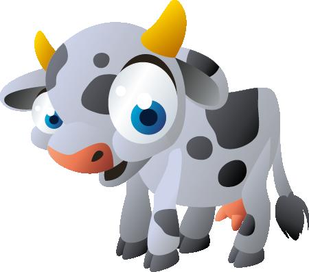 TENSTICKERS. 子供のステッカーかわいい赤ちゃん牛. キッズウォールステッカー-大きな青い目をした小さな笑顔の子牛の絵を描いた装飾的なウォールステッカー。