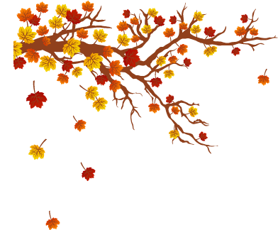 TenStickers. Autumn Tree Design Wall Sticker. Floral wall decals - Tree decal that shows the autumnal colours of leaves such as brown and orange.  This autumn wall sticker illustrates the transition from summer to autumn and the falling of leaves from trees.
