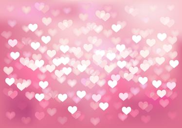 TenStickers. Naklejka na laptopa mozaika serc. Naklejka dekoracyjna na sprzęt elektroniczny przedstawiająca masę serc na różowym tle.