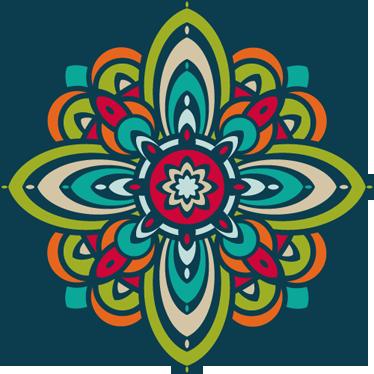 TenStickers. Vinil Decorativo Flor Colorida. Vinil autocolante decorativo personalizado com uma flor colorida, um vinil perfeito para colorir o ambiente e a decoração de sua casa.