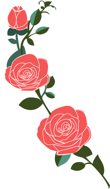 TenStickers. Pink Roses Branch Wall Decal. Wall Stickers - Simple and elegant rose design for decorating your walls, cupboards, appliances and more. Made from high quality vinyl, easy to apply