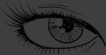 TenStickers. Sticker opgemaakt oog. Deze muursticker van een mooi opgemaakt oog brengt een mysterieuze sfeer toe in de ruimte waar deze is versieren.