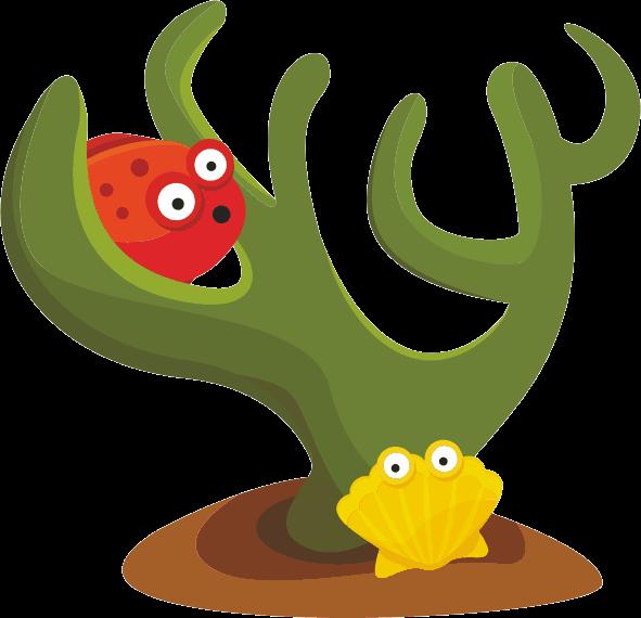 TenStickers. морские существа дети стикер. морская тематическая наклейка из двух морских существ из нашей эксклюзивной коллекции наклеек для животных для детей! красочная наклейка дает спальне ваших детей уникальную и веселую атмосферу вместе с потрясающим видом.