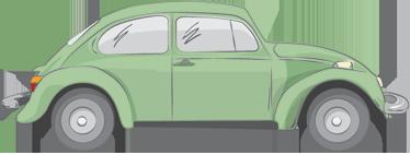 TenStickers. Groene Volkswagen Beetle Muursticker. Decoreer uw woning met deze bijzondere muursticker van de beroemde Volkswagen Beetle! Afmetingen aanpasbaar. Dagelijkse kortingen.
