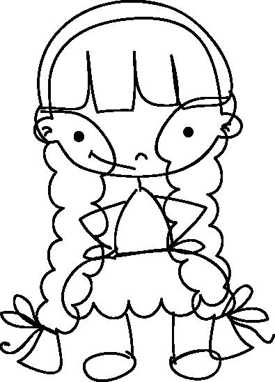 TenStickers. Sticker meisje lachen. Een leuke muursticker van een lachend meisje met paardenstaartjes voor in huis. Leuk voor uw dochter om om op de muur te plakken.