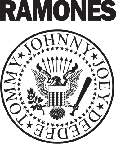 TenStickers. Ramones Logo Aufkleber. Schmücken Sie ihre Wände mit diesem Wandaufkleber der amerikanischen Punkband Ramones.