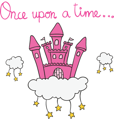 TenStickers. Autocolante para castelo era uma vez. Autocolantes decorativos infantis - decoração mágica para paredes, ideal para decorar espaços infantis.