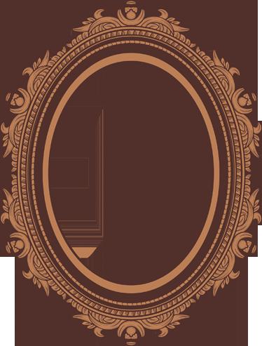 TenStickers. Sticker cadre détail. Décorez votre intérieur avec ce cadre travaillé sur sticker. Choisissez la forme selon vos goûts.