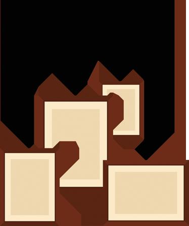 TenStickers. 박람회 프레임 스티커. 천장에 매달려있는 효과를 만드는 4 개의 직사각형 프레임 모음.