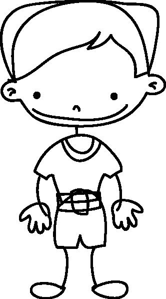 TenStickers. Sticker kinderkamer tekening jongen. Een leuke muursticker met een kinderlijke tekening van een vrolijke jongen voor de decoratie van de babykamer.