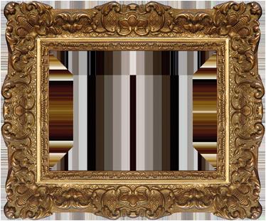 TenStickers. 文艺复兴时期的框架贴纸. 装饰文艺复兴时期的框架墙贴,非常精致细致的造型,将为您的家居带来经典外观。