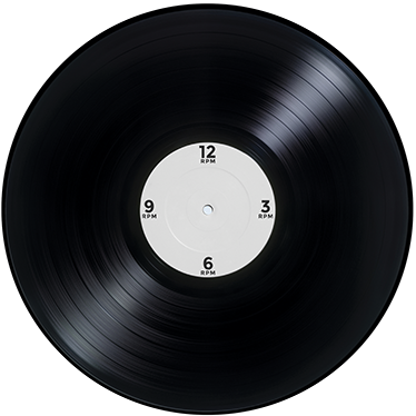 TENSTICKERS. ビニールレコード時計ステッカー. ビニールレコードのデザイン。シンプルで独特、音楽愛好家に最適