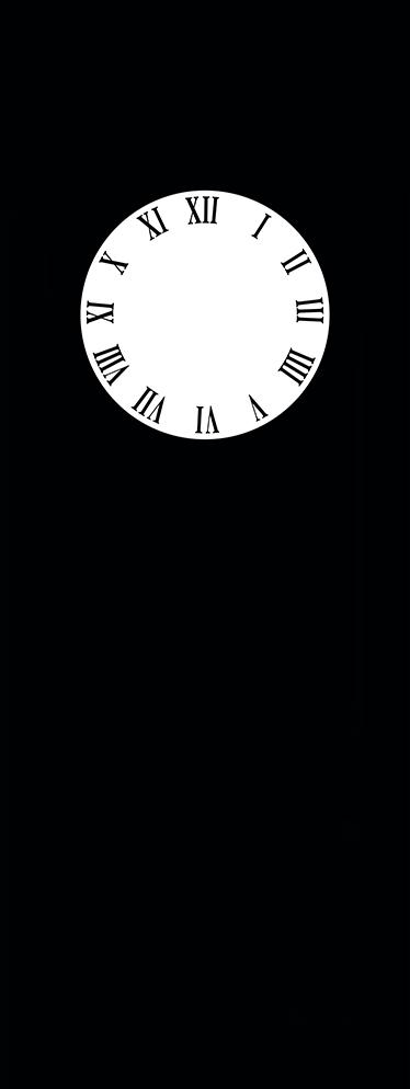 TenStickers. 经典框架挂钟贴纸. 壁钟-经典壁钟剪影设计。简单而与众不同,非常适合装饰您的房屋,营造出复古气息。