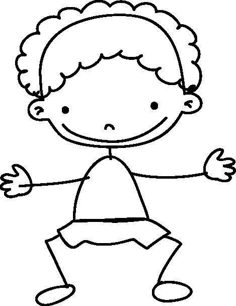TenStickers. Wandtattoo Kinderzimmer lächelnder Junge. Gestalten Sie das Kinderzimmer mit diesem Wandtattoo eines gezeichneten kleinen Jungen, der einen fröhlich ansieht.