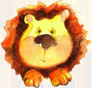 TenStickers. Löwe Wasserfarbe Aufkleber. Mit diesem schönen Löwen Wandtattoo Design können Sie die Wand im Kinderzimmer zum Hingucker machen.