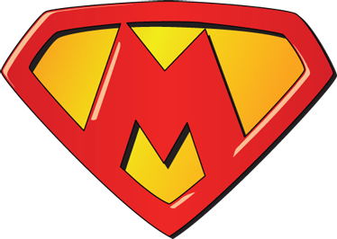 TenStickers. Super M Sticker. Personalised Superman logo sticker E-mail us at info@tenstickersco,uk and we can create the logo with a letter of your choice!