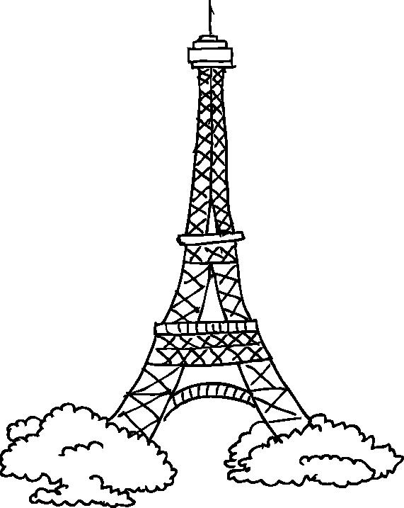 Famoso Sticker decorativo disegno Torre Eiffel - TenStickers SZ15