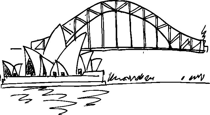TenVinilo. Vinilo silueta ópera Sydney. Vinilo ópera Sidney. Un adhesivo de trazos dibujados para reproducir uno de los puntos más emblemáticos y conocidos de Australia.