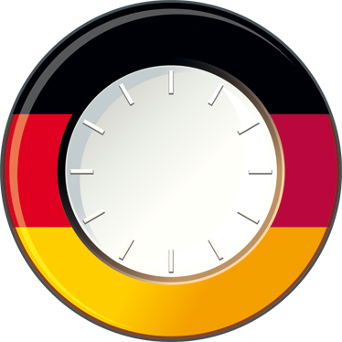 TenStickers. Germany Wall Clock Sticker. Wall Clocks - German flag wall sticker clock. Original and distinctive, ideal for decorating the home. Perfect for any room