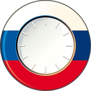 TenStickers. Sticker orologio muro Russia. Orologio sticker da parete con la caratteristica bandiera rossa, blu e bianca di uno dei paesi più freddi del mondo, la Russia.