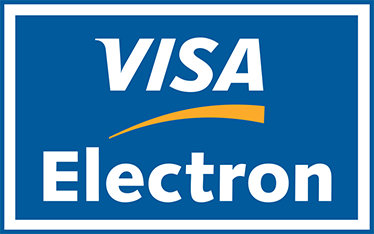 TenStickers. Visa Electron Card Logo Sticker. A sticker for businesses to show your customers that you accept credit card payments with VISA ELECTRON.