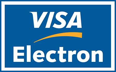 TenStickers. Sticker carte visa electron. Informez vos clients que vous acceptez les paiements par carte de crédit Visa Electron en affichant le logo de la carte bancaire sur votre vitrine.