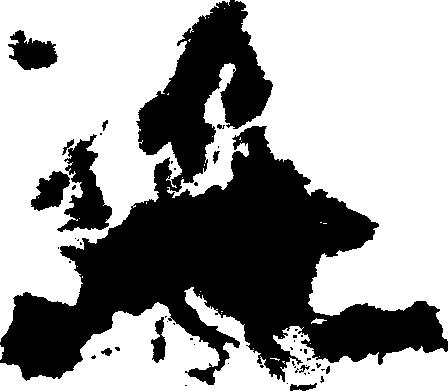 europe map silhouette wall sticker - tenstickers