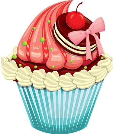 TenStickers. Kitchen Sticker Cherry Cupcake with Frosting. Kitchen Wall Stickers - A delicious frosted cupcake ideal for the kitchen or a bakery shop. Perfect for bringing a unique and fun atmosphere to your home.