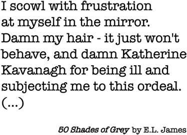 TenVinilo. Vinilo texto 50 shades of Grey. Adhesivo de texto con las primeras palabras que aparecen en la versión inglesa de este best seller de E.L. James.Si eres fan de la trilogía de las Sombras de Grey decora tu hogar de forma sutil con este diseño que recrea el primer párrafo del libro.