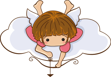 TenStickers. Little Angel Aiming Kids Sticker. Decorative angel wall art decal of a little angel with its wings ready to shoot an arrow. A fantastic decoration for a girl's bedroom.