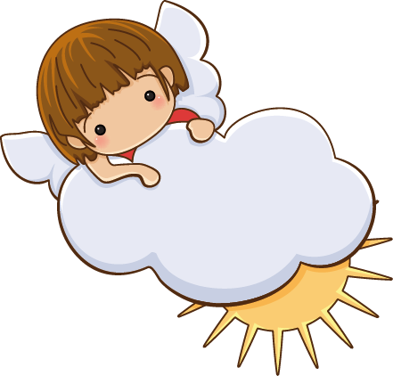 TenStickers. Little Angel on Cloud Decal. A decorative angel wall art sticker of a little angel on a cloud. Brilliant decal to decorate your child's room.