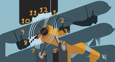 TenVinilo. Vinilo reloj infantil avión. Vinilo reloj de un magnífico avión clásico para decorar la habitación de los más pequeños. Personaliza su espacio y que hagan volar su imaginación.