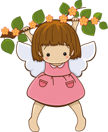 TenStickers. Kids Stickers Hanging Little Angel. A superb angel wall art sticker illustrating this little angel hanging from a branch. This angel decal is ideal for a girl's bedroom or playroom.