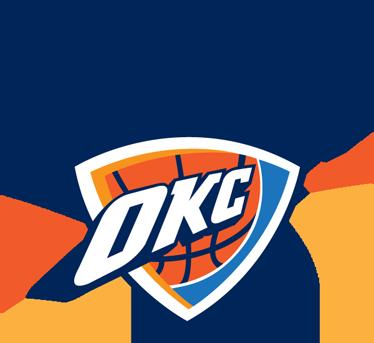 TenVinilo. Pegatina Oklahoma City Thunder. Adhesivo deportivo con el emblema de este famoso equipo de baloncesto estadounidense. Para los fans de la NBA y en concreto de los antiguos Seattle Supersonics.