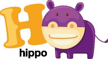 kids letter h sticker tenstickers