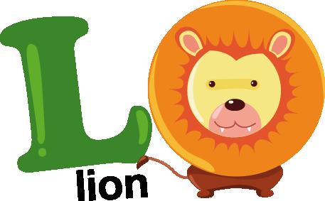 L for Lion Kids Sticker  TenStickers