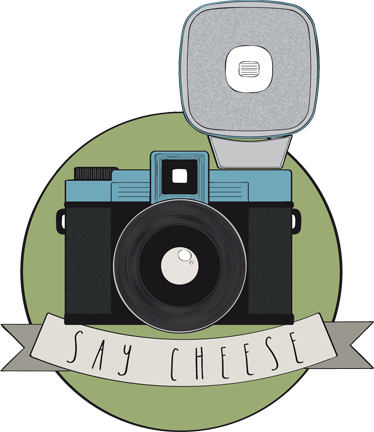 TenStickers. Say Cheese Decorative Sticker. This decorative decal shows an original design of a camera. An exclusive vinyl sticker designed by Clinomania Studio for Tenstickers.