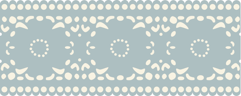 TenStickers. Floral Pattern Wall Sticker. Wall Stickers - Floral wall border design to decorate your home. Available in various sizes and in 50 colours.