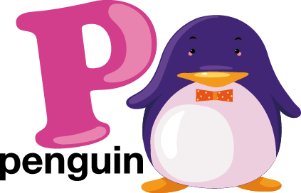 TenStickers. P for Penguin Kids Sticker. A fantastic design from our collection of penguin wall stickers illustrating the letter P for penguin. A great way to enhance your child's learning!