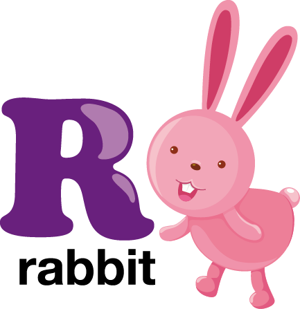 TenStickers. Kids R for Rabbit Sticker. Alphabet stickers - Everyone loves rabbits! Use the letter decal from our collection of rabbit wall stickers to decorate your child's bedroom!
