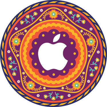 TenStickers. Mandala Floral MacBook Sticker. Personalise your Macbook with this colourful Asian inspired design. This superb design is from our collection of MacBook stickers.