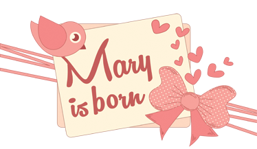 TenVinilo. Vinilo decorativo cartel ventana niña. Es tradición en algunos países anunciar el nacimiento de un niño o niña colocando un cartel en la ventana.